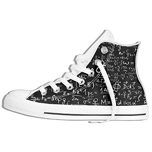 Classiche Sneakers Alte Scarpe Di Tela Anti-skid Math Casual Da Passeggio Per Uomo Donna Bianco