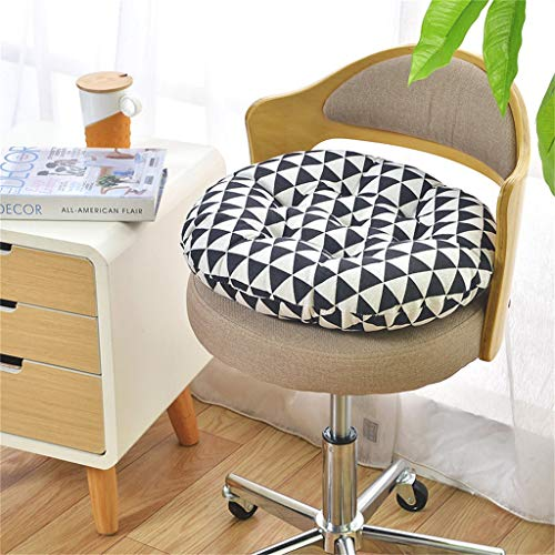 Guidance Outdoor Round Seat Cushions Cotton Upholstery Soft Padded Filled Boosted Cushion Indoor Chair Cushions for Home Office Kitchen or Car Seat Cushion (40 cm, Black and White)