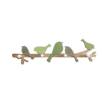 WEEKDEGY Perchero Ganchos para Colgar Porche Creativo Sala de Montaje Gancho para Colgar Llave del Marco Capa Decorativa Gancho (Color : Green)