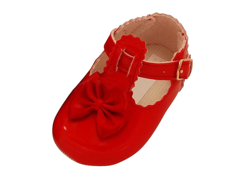 b96257b2921ec Chaussures de baptême chaussures bébé cuir vernis cuir Sandales Baptême  Mariage Fille Rouge