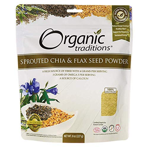 (Sprouted Chia/Flax Organic Traditions 8 oz Seed)