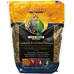 Sunseed Vita Prima Sunscription Cockatiel And Lovebird Food, High-Variety Formula - 3 Lbs Size