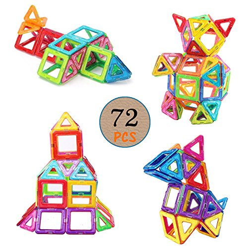 72 Pcs Magnetic Building Blocks Lurico Magnetic Tiles