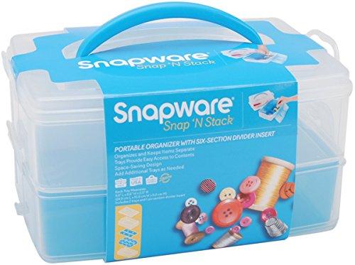 Snapware Snap 'n Stack Craft Organizer Medium Rectangle-2 (Snapware Craft Organizer)