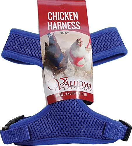 Blue VALHOMA 756 S C BL 625479 Mesh Chicken Harness Hen
