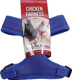 VALHOMA 756 S C BL 625479 Mesh Chicken Harness, Blue, Hen