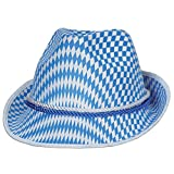 Pack of 12 Blue and White Harlequin Design Fabric Oktoberfest Alpine Party Hat