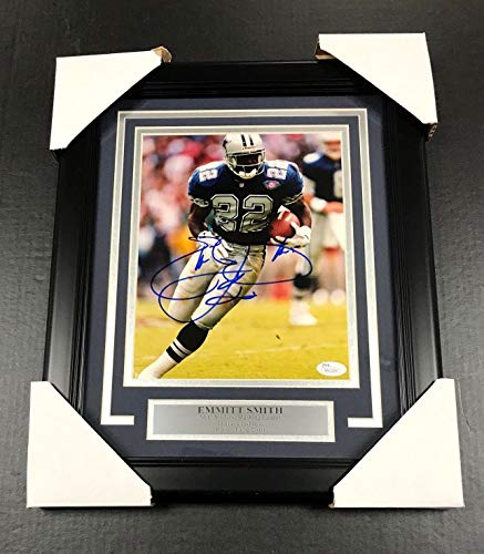 Emmitt Smith Signed Picture - FRAMED 8x10 COA - JSA Certified - Autographed NFL Photos