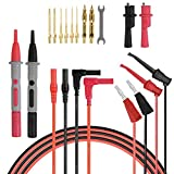 Automotive : Yubone Test Leads Kit, Multimeter Leads with Alligator Clips Replaceable Probe Tips and Test Mini Hooks