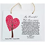 Personalised Wife Memorial Remembrance Hanging Plaque Metal Sign. (Indoor/Outdoor) Personalised Details required by Pure Essence Greetings