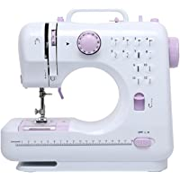 DONYER POWER Electric Sewing Machine Portable Mini with 12 Built-in Stitches, 2 Speeds Double Thread, Embroidery,Foot Pedal Best for Beginner