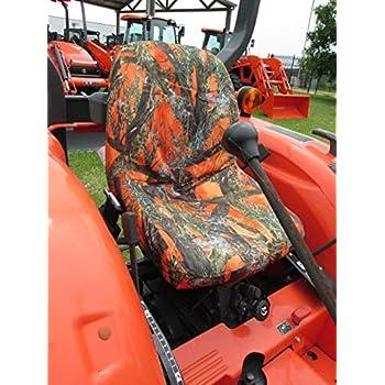 Durafit Seat Covers, Kubota Tractor L3301,L3901,L4701 in Orange Camo Endura  MC2 Orange