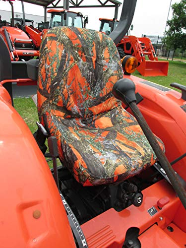 Durafit Seat Covers, Kubota Tractor L3301,L3901,L4701 in Orange Camo Endura MC2 Orange from Durafit Seat Covers