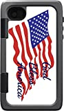 God Bless America Quote The American Flag Otterbox Armor iPhone 4  and  4s Vinyl Decal Sticker Skin