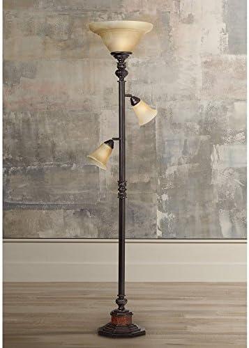 Kathy Ireland Sonnett 72″ HIgh 3-Light Torchiere Floor Lamp