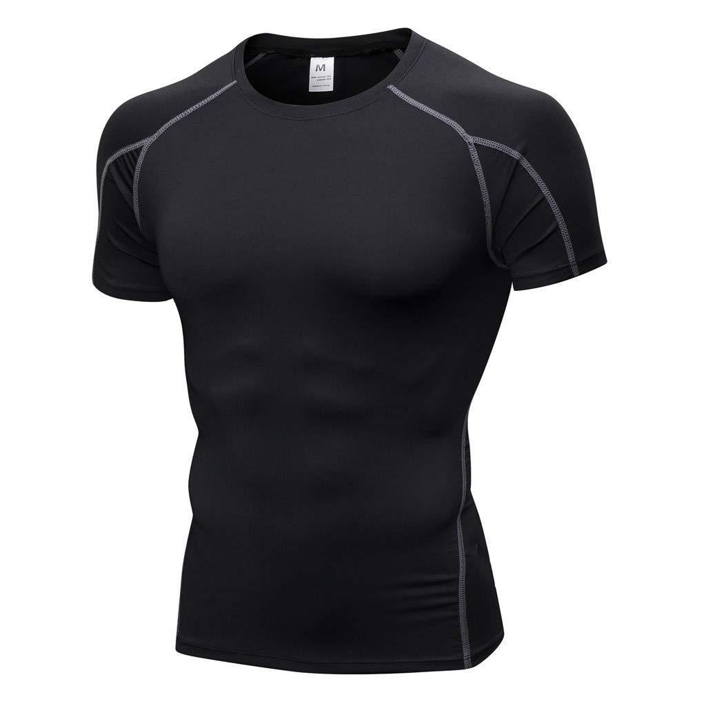 Fcostume Herren Training Leggings Fitness Sport Laufende Yoga-athletische Hemd Spitzenbluse