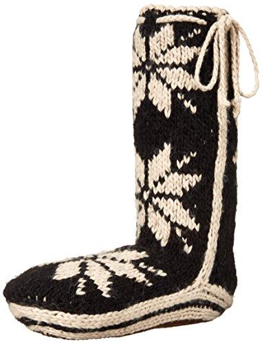 Woolrich Women's Chalet Sock Slipper, Black, Medium/(9-11) M US