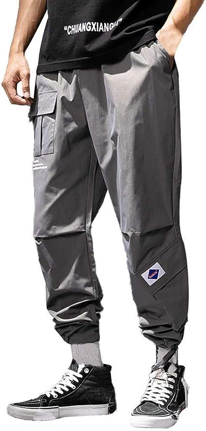 Pantalones para Hombre, Casuales Moda trabajo Pantalones Suelto ...