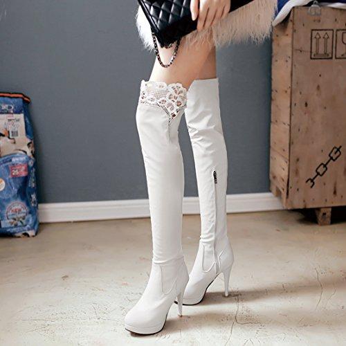 Classic AIYOUMEI Women's AIYOUMEI Boot White Women's qqYPt