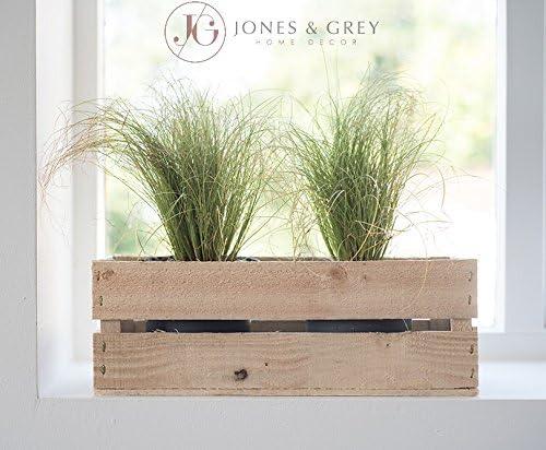 Interior cajas de madera maceta de jardín para hierbas de cocina ventana caja de almacenamiento de especias: Amazon.es: Jardín