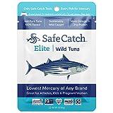 Safe Catch Elite, Lowest Mercury Solid Wild Tuna Steak, 3oz pouch (pack of 12)