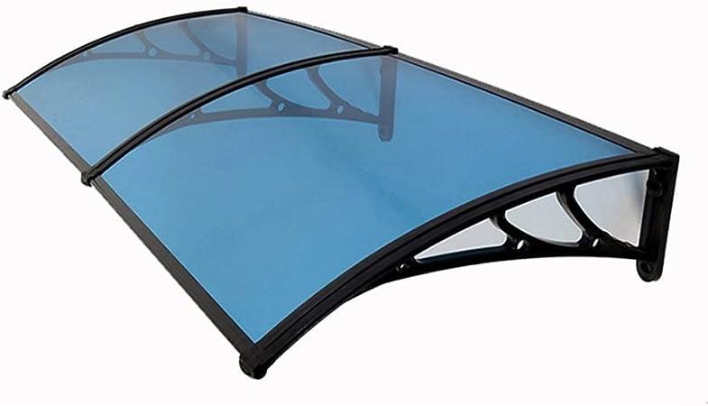 Nevy Marquesina para Puertas Y Ventanas Tejadillo De Protecci/ón Toldo Toldo Silencioso Tablero De PC S/ólido 6 Tama/ños para Terrazas Canop Color : Clear, Size : 60X60cm