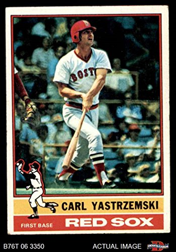 1976 Topps # 230 Carl Yastrzemski Boston Red Sox (Baseball Card) Dean's Cards 5 - EX Red Sox