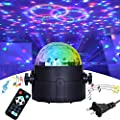 DJ Lights Disco Party Ball Lights, Sibaokeji LED Rotating Magic Strobe Lights 7-Color Sound Activated RGB Stage Effect Show Wedding Lighting Night Lights for Kids Room Dance Show Club Birthday Gifts