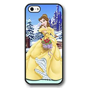 Beauty and The Beast - Disney Princess Belle, Personalized Hard Plastic Case for iPhone 5/5s - Black