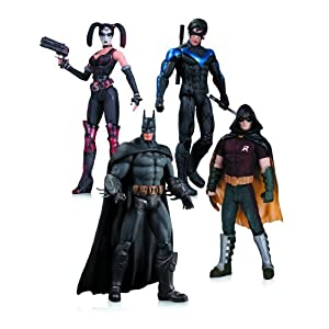Arkham City: Harley Quinn, Batman, Nightwing, & Robin Action Figure 4-Pack - 51zn4C2O 2B3L - Arkham City: Harley Quinn, Batman, Nightwing, & Robin Action Figure 4-Pack