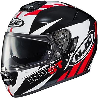 HJC Helmets Unisex-Adult Full-face-Helmet-Style RPHA-ST Rugal (Black/White/Red Medium