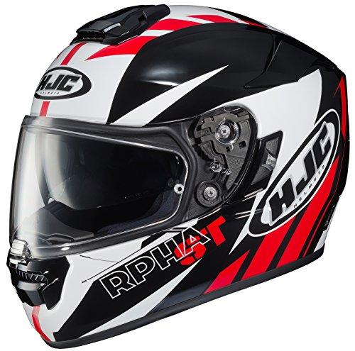 HJC RPHA-ST Rugal - Casco integral para motocicleta, Casco estilo cara completa, Negro/Blanco/Rojo, X-large
