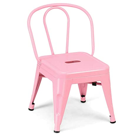 Awesome Amazon Com Metal Frame Kids Chair Toddler Children Pink Dailytribune Chair Design For Home Dailytribuneorg