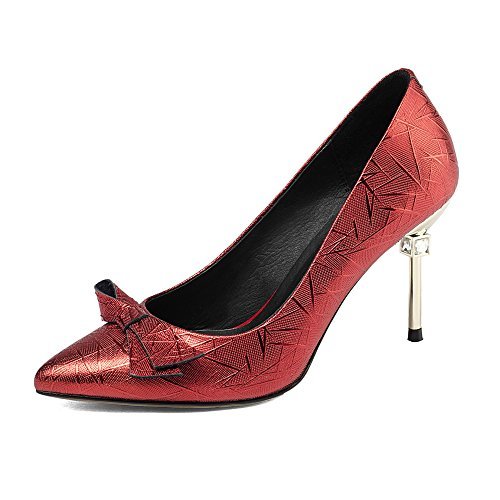 Chaussures Peu Pompes Hauts Rouges De Bow Talons Stiletto De à Red Pointu Profondes Mariage Soirée Robe Chaussures 8XqXfwrRx