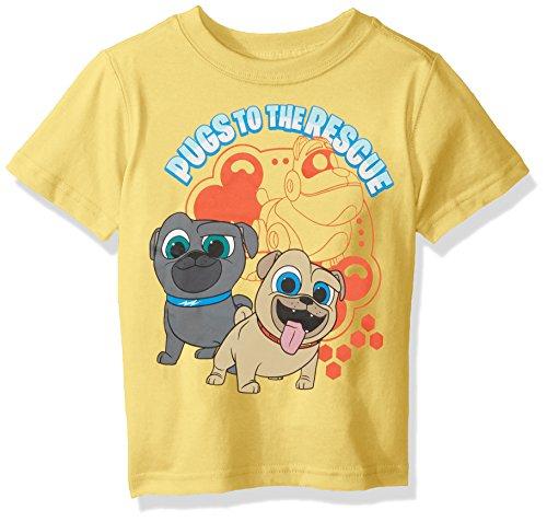 (Disney Boys' Toddler Puppy Dog Pals Short Sleeve tee, Yellow, 3T)