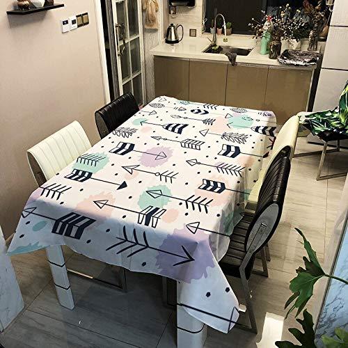 XXDD Mantel de Cocina Moderno para el hogar, Mantel nordico Impermeable, Mantel de Moda, Mantel de Plumas, Mantel A7 135x160cm