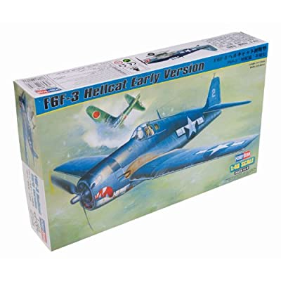 Hobby Boss F6F-3 Hellcat Early Version Airplane Model Building Kit: Toys & Games