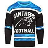 FOCO Carolina Panthers Ugly Glow In The Dark Sweater - Mens Large