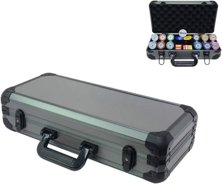 YUSDP Estuche de Aluminio fichas de póker: protección de Esponja incorporada, Espacio de partición de Madera, diseño Cerradura Metal Duradero, para Entretenimiento Bar del Casino: Amazon.es: Hogar