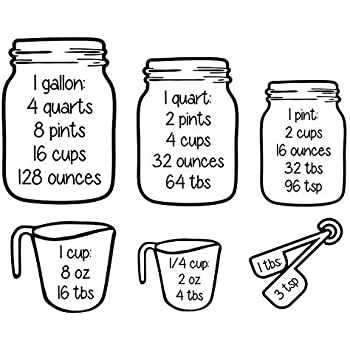 Amazon Com Walls With Style Measuring Cups Decal With