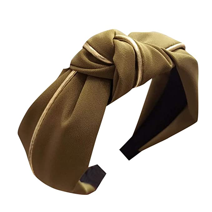 Driuankeji Womens Fashion Headband Hairband Bow Knot Cross Tie Girls Velvet Hair Band Accessories