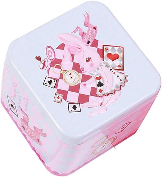 Tonpot - Caja para Caramelos de Hierro, Color Blanco, para Labios, Caja de Almacenamiento de Dibujo Animado de Metal, Cajas de Regalo, té, Chocolate y Galletas: Amazon.es: Hogar