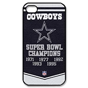 Custom Your Own Personalised NFL Dallas Cowboys Team Flag Iphone 4/4S Best Durable Hard Cover Case