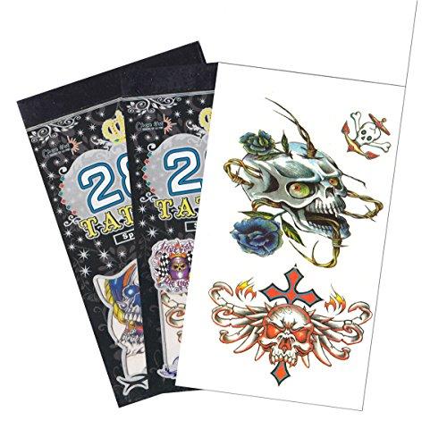 3 Packs Halloween Temporary Tattoo Book, Halloween Temporary Tattoos ()