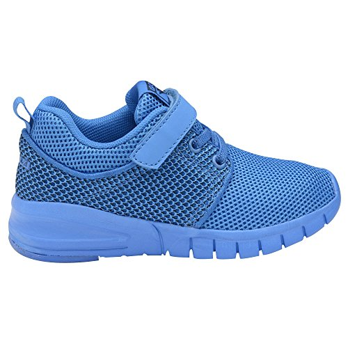 Gola Sport - Zapatillas deportivas ligeras con cierre adhesivo modelo Angelo para niños/niñas (27 EU/Azul)