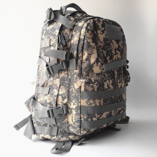 Junsi tattica militare, per campeggio, Hiking Day-Zaino per pc portatile e sistema Molle, colore nero, ArmyGreen New Style