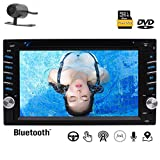 Privileged Sale Universal Car Double Din in-Dash GPS Nav with 6.2 Capacitive Touch Screen 1080P Work with Bluetooth DVD USB SD Steering Wheel Control Colorful Button Lights & Free Backup Camera