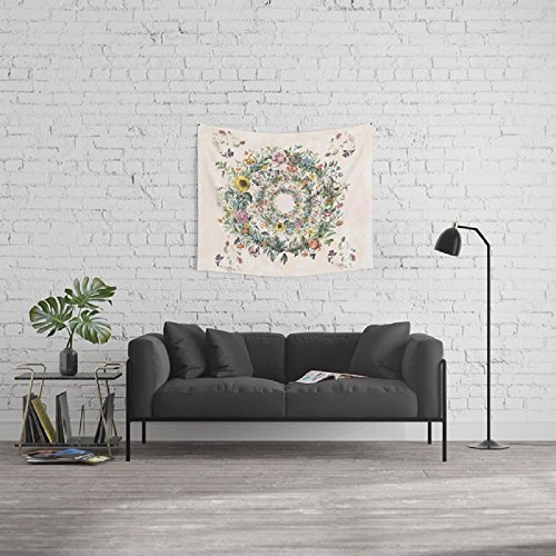 ZRCK Wall Hangings Tapestry Psychedelic Cool Home Decor Hippie Circle Of Life Tapestries For Living Room 59X51 INCH