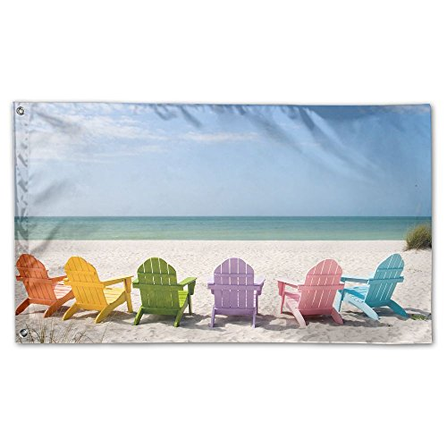flag summer beach chair garden