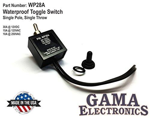 GAMA Electronics Waterproof On-Off Toggle Switch